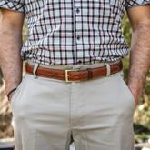 "Galco SB1 1 1/4"" Dress Holster Belt tan worn"