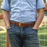 """Galco SB5 1 3/4"""" Casual Holster Belt tan lifestyle"""
