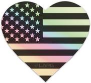 LA Police Gear Holographic 5 x 4.56 Heart Sticker HOLO-HEARTSTICKER