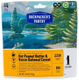 Backpackers Pantry Peanut Butter and Raisin Oatmeal - 1 Serving 101014