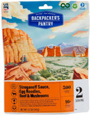 Backpackers Pantry Stroganoff Sauce with Egg Noodles, Beef, and Mushrooms - 2 Servings 102410