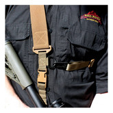 """Red Rock Outdoor Gear C2: 2-to-1 Point 2"""" Tactical Sling Coyote Detail 1"""