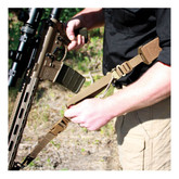 """Red Rock Outdoor Gear D1: 2-Point 2"""" Tactical Sling Coyote Detail"""