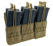 Shellback Tactical Triple Stacker Open Top M4 Magazine Pouch - SBT-3300 - Coyote - Only 27.99 - |LA Police Gear|