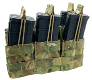 Shellback Tactical Triple Stacker Open Top M4 Magazine Pouch - SBT-3300 - Multicam - Only 27.99 - |LA Police Gear|