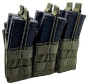 Shellback Tactical Triple Stacker Open Top M4 Magazine Pouch - SBT-3300 - Ranger Green - Only 27.99 - |LA Police Gear|