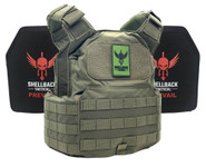 Shellback Tactical Shield Active Shooter Kit with Level IV 1155 Plates - SBT-9010-1155 - Ranger Green -Only 389.99  LA Police Gear 