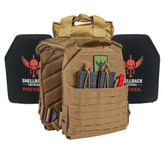 Shellback Tactical Defender 2.0 Active Shooter Kit with Level IV 1155 Plates - SBT-9040-1155 - Coyote - Only 399.99 - |LA Police Gear|
