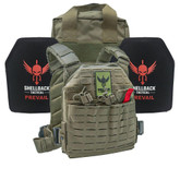 Shellback Tactical Defender 2.0 Active Shooter Kit with Level IV 1155 Plates - SBT-9040-1155 - Ranger Green - Only 399.99 - |LA Police Gear|