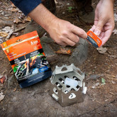 Adventure Medical Kits Fire Lite Fuel Cubes in use