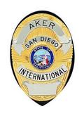Aker Model 591 Shield Badge Holder black