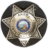 Aker Model 592 Clip On Star Badge Holder black feature