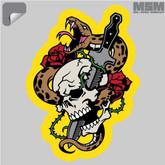 Mil-Spec Monkey Skull Snake 1 Decal - 00041-SKULLSNAKE1 - Only $1.25 - LA Police Gear