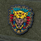 Mil-Spec Monkey Aztec Warrior Head 1 Patch - Full Color - Only $5.50 - LA Police Gear