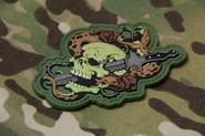 Mil-Spec Monkey Skull Snake 1 PVC Patch - Multicam - Only $6.00 - LA Police Gear