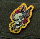 Mil-Spec Monkey Skull Snake 1 PVC Patch - Full Color - Only $6.00 - LA Police Gear
