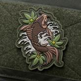 Mil-Spec Monkey Koi Tattoo 1 PVC Patch - Multicam - Only $6.50 - LA Police Gear