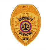 Hero's Pride Security Officer Badge Patch - Only $2.50 - Gold - LA Police Gear