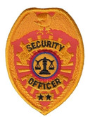 Hero's Pride Security Officer Badge Patch - Only $2.50 - Reflective Gold - LA Police Gear