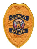 Hero's Pride Security Officer Badge Patch - Gold - LA Police Gear