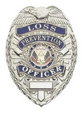 Hero's Pride Loss Prevention Officer Lightweight Badge - Nickel Plated - LA Police Gear
