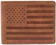 LA Police Gear Leather Flag Wallet