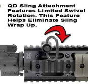 GGandG Quick Detach Side Sling Attachment for Dovetails 1620-GG 813157004902