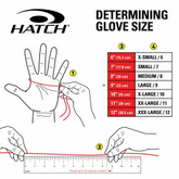 Hatch Black Flight Gloves with Nomex BNG190 sizing