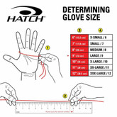 Hatch SGK100 Street Guard Glove with Kevlar SGK100 sizing
