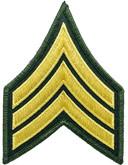 Hero's Pride LA County Sheriff Chevron Class B Sergeant Patch Pair 5497S - LA Police Gear