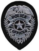 Heros Pride Police Officer Badge POLICE-OFFICER-BADGE - Silver/ Black
