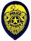 Heros Pride Police Officer Badge POLICE-OFFICER-BADGE - Gold/ Dark Navy
