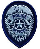 Heros Pride Police Officer Badge POLICE-OFFICER-BADGE - Silver/ Dark Navy