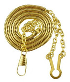 Heros Pride Whistle Chain with Button Style Hook WHISTLE-CHAIN - Gold