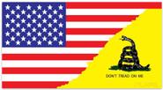 LA Police Gear Large Gadsden Split US Flag 5.7 x 3 Sticker FLAGSTICKER-GADSP