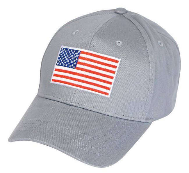 LA Police Gear American Flag Hat - Grey FLAG-HAT-GREY 0171200000541