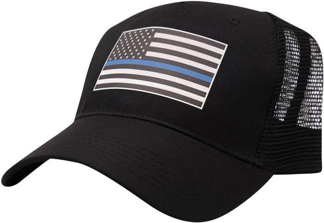 LA Police Gear Thin Blue Line Trucker Hat HE-TBL01