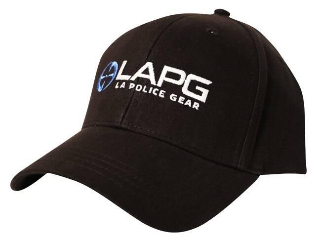 LA Police Gear Black Logo Hat LOGO2015HATBLK 641606865961
