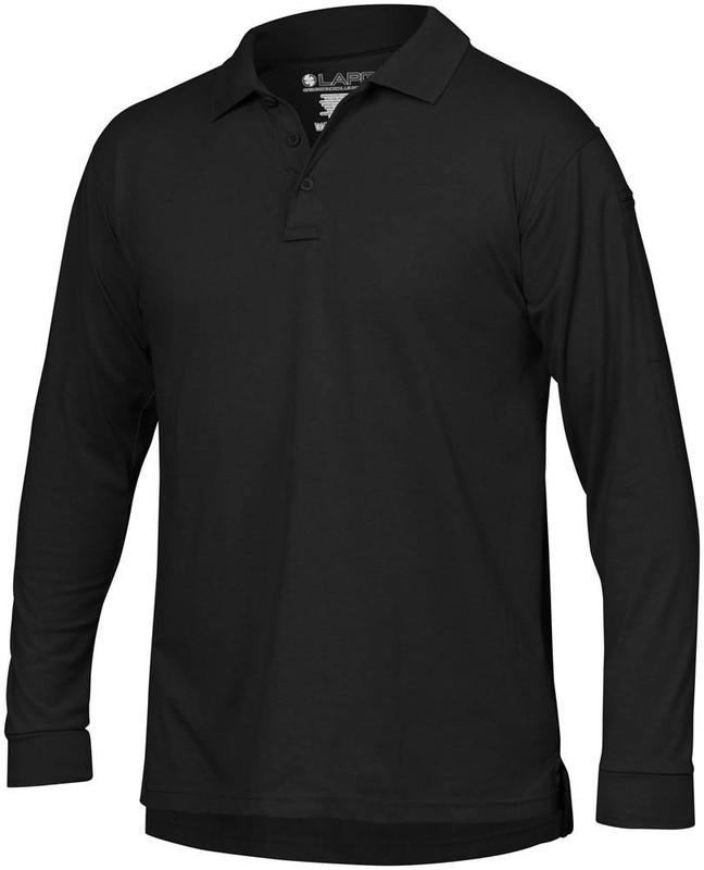 LA Police Gear Mens Op Tactical L/S Polo Shirt LSP2010