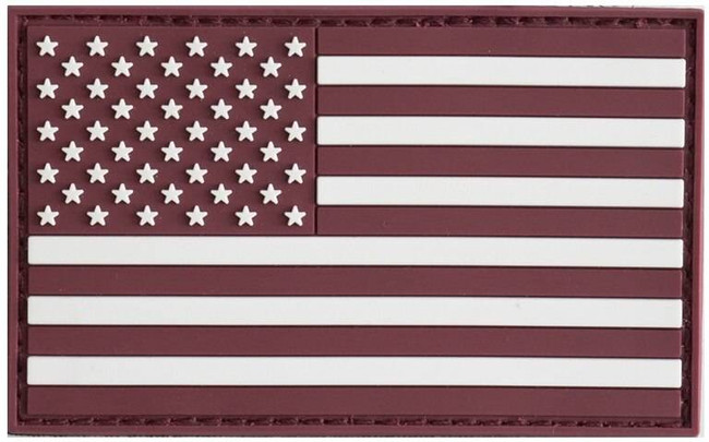 LA Police Gear Maroon Flag Patch PATCH-MAROON-FLAG 641606910203