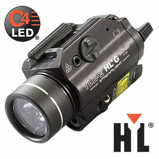 Streamlight TLR-2 HL G Rail Mounted WeaponLight with Green Laser 69265 080926692657