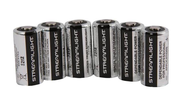 Streamlight 3V CR123 Lithium Batteries - 6 Pack 6PACK-ST 080926851801