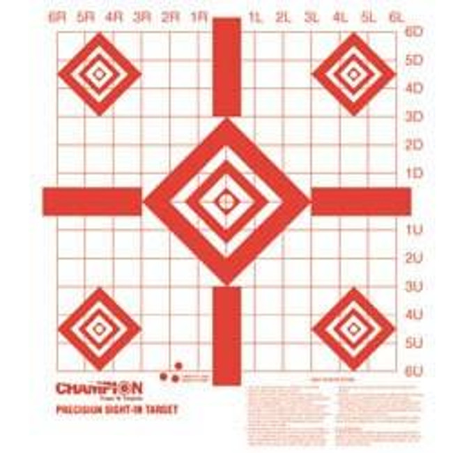 Champion Targets Redfield Style Precision Sight-In Target REDFIELD