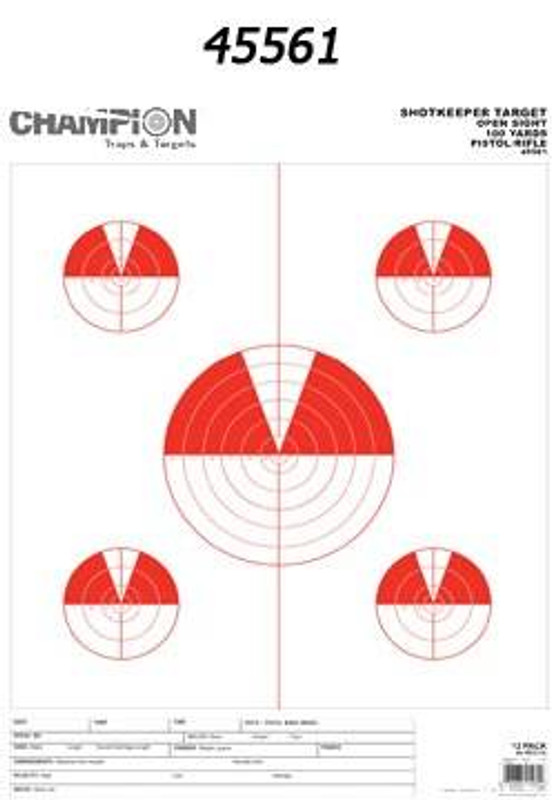 Champion Targets ShotKeeper Precision Paper Targets SHOTKEEPER