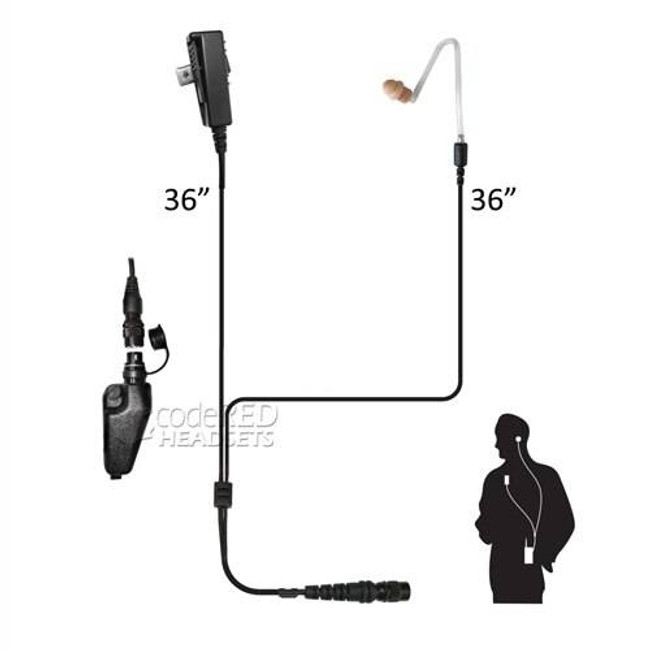 Code Red Headsets ComPro QD Quick Disconnect Mic COMPRO