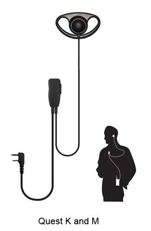 Code Red Headsets Quest Single-Wire 2-Way Microphone QUEST-CO
