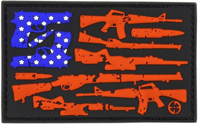 LA Police Gear Gun Flag Patch PATCH-GUNFLAG