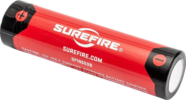 Surefire Micro-USB Rechargeable 18650 Protected Lithium Ion Battery SF18650B 084871328050