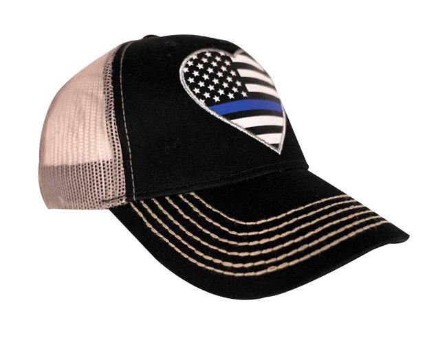 LA Police Gear Shimmer TBL Heart Hat SHIMMER-TBL