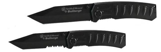 Smith and Wesson Bullseye Tanto Blade Folder Knife BULLSEYE-SW